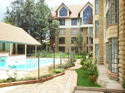 Fully furnished 3 bedroom apartment-kilimani
